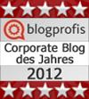 Auszeichnung Klaus Priemer und Marcus Riesterer corporate blog 2012